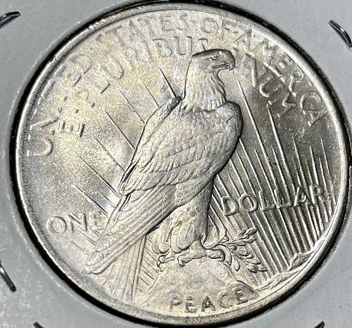 1923-P High Grade Brilliant Uncirculated MS60+ Peace US Silver Dollar