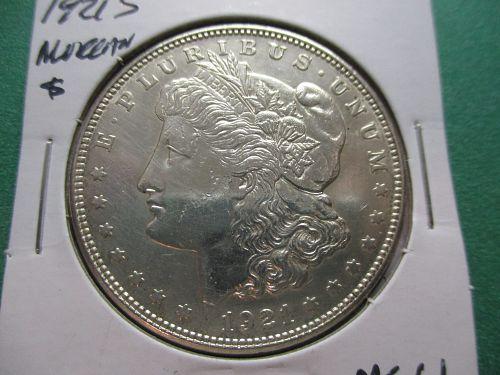 1921-S  MS61 Morgan Dollar.  Item: DM 21S-13.