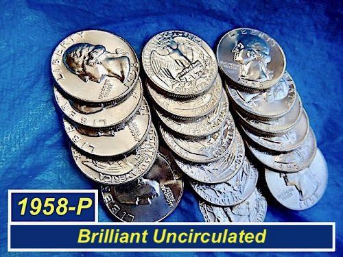 """1958-P """"BU"""" Quarter  ⭐️ GORGEOUS Lustrous Mint State ⭐️ 2021a"""