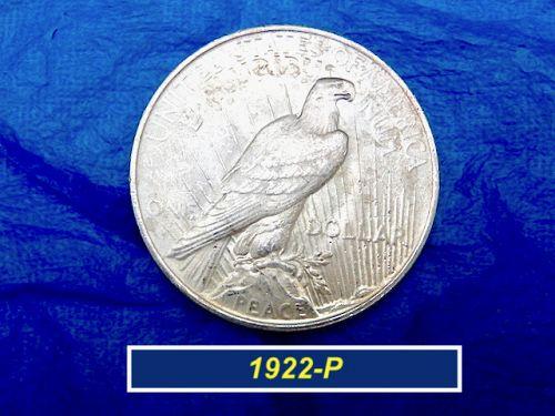 """1922-P PEACE Silver Dollar  ⭐️  AU-UNC (""""AU58"""" -- MS60"""") ⭐️ (5.11)"""