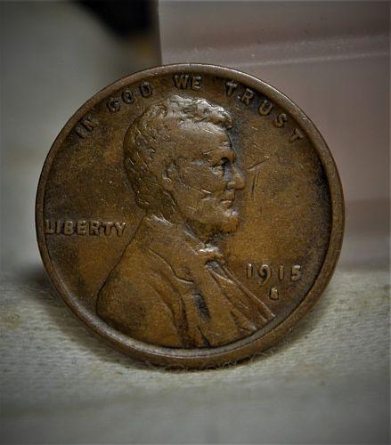 1915 S Lincoln Wheat Cent (Semi Key Date) - F
