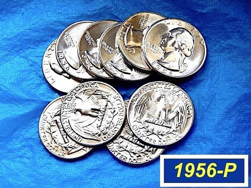 "1956-P ""BU""  Silver Quarter ⭐️  Lustrous ""MS-64/65""   ⭐️ (2961)"