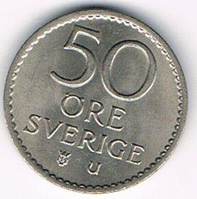 50 Öre, Sweden, 1970