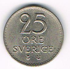 25 Öre, Sweden, 1969