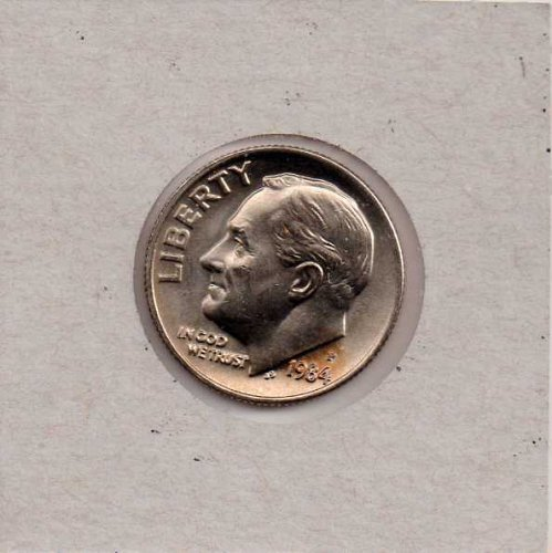 1984d BU Roosevelt Dime *