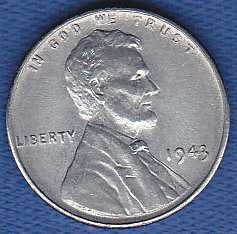 Lincoln Wheat Cent 1943P