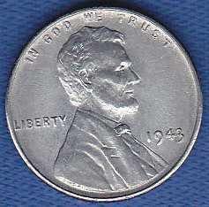 Lincoln Wheat Cent 1943P