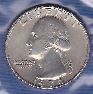 Washington Quarter 1974P