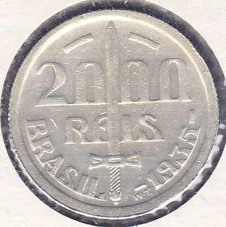Brazil 2000 Reis 1935