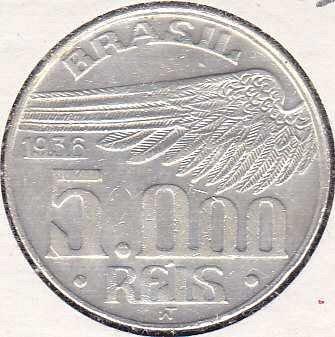 Brazil 5000 Reis 1936