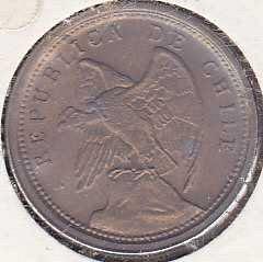 Chile 10 Centavos 1921