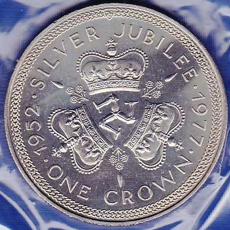 Isle of Man  Crown 1977