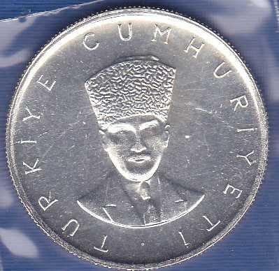 Turkey 25 Lira 1970