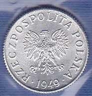 Poland 1 Grosz 1949