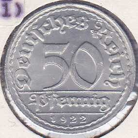 Germany 50 Pfennig 1922D