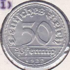 Germany 50 Pfennig 1922D