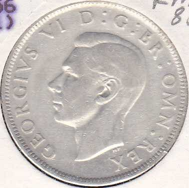 Great Britain 1/2 Crown 1945