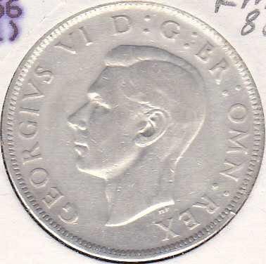 Great Britain 1/2 Crown 1945