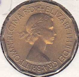 Great Britain 3 Pence 1953