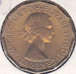 Great Britain 3 Pence 1953