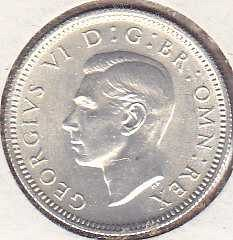 Great Britain 6 Pence 1944