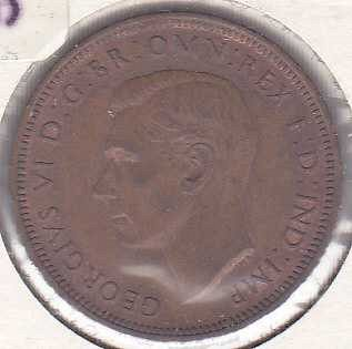 Great Britain 1/2 Penny 1944