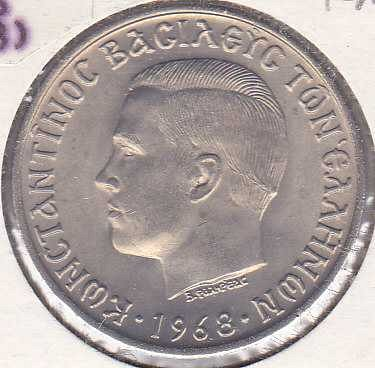 Greece 10 Drachmai 1968