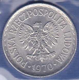Poland 1 Zolty 1970
