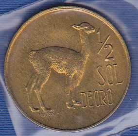Peru 1/2 Sol 1973