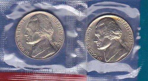 1978 P&D Jefferson Nickels