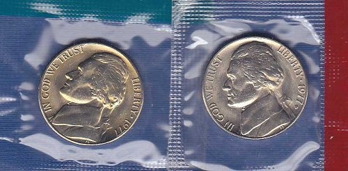 1977 P&D Jefferson Nickels