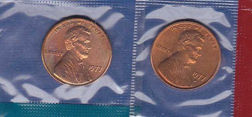 1977 P&D Lincoln Memorial Cents