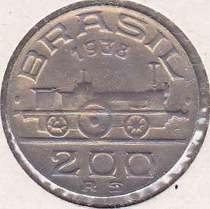 Brazil 200 Reis 1938