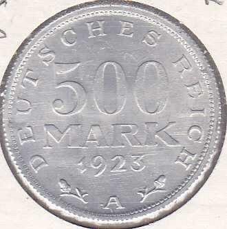 Germany 500 Mark 1923A