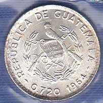 Guatemala 5 Centavos 1964