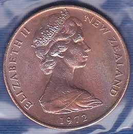 New Zealand 2 Cents 1972