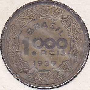 Brazil 1000 Reis 1939