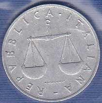 Italy 1 Lira 1954R