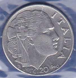Italy 20 Centesimi 1940