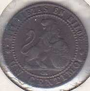 Spain 1 Centimo 1870 (151 years old)