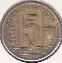 Argentina 5 Centavos 1942