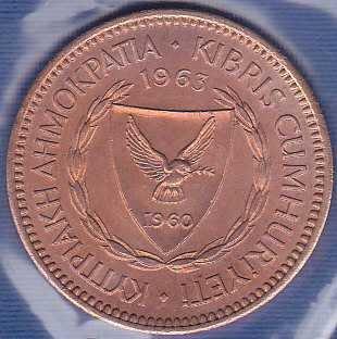 Cyprus 5 Mils 1963