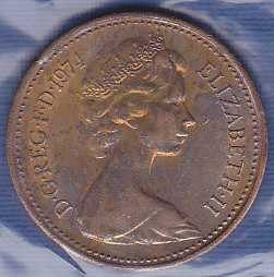 Great Britain New Penny 1974