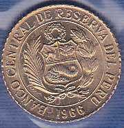 Peru 5 Centavos 1966