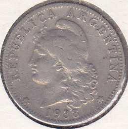 Argentina 20 Centavos 1938