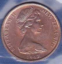 New Zealand 1 Cent 1967