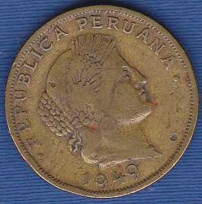 Peru 20 Centimes 1949