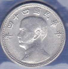 China 10 Cents 1955