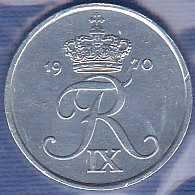 Denmark 10 Ore 1970