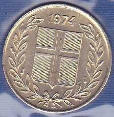Iceland 50 Aurar 1974